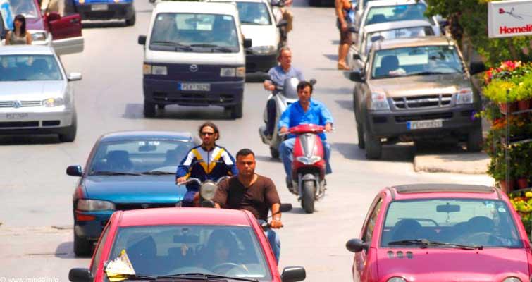 Traffic in Crete